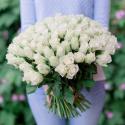Букет 101 белая роза купить