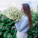 Букет 101 белая роза заказать