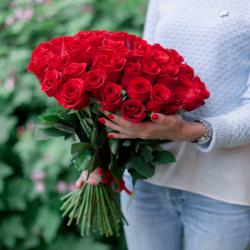 Букет из 51 красной розы Freedom (Эквадор)
