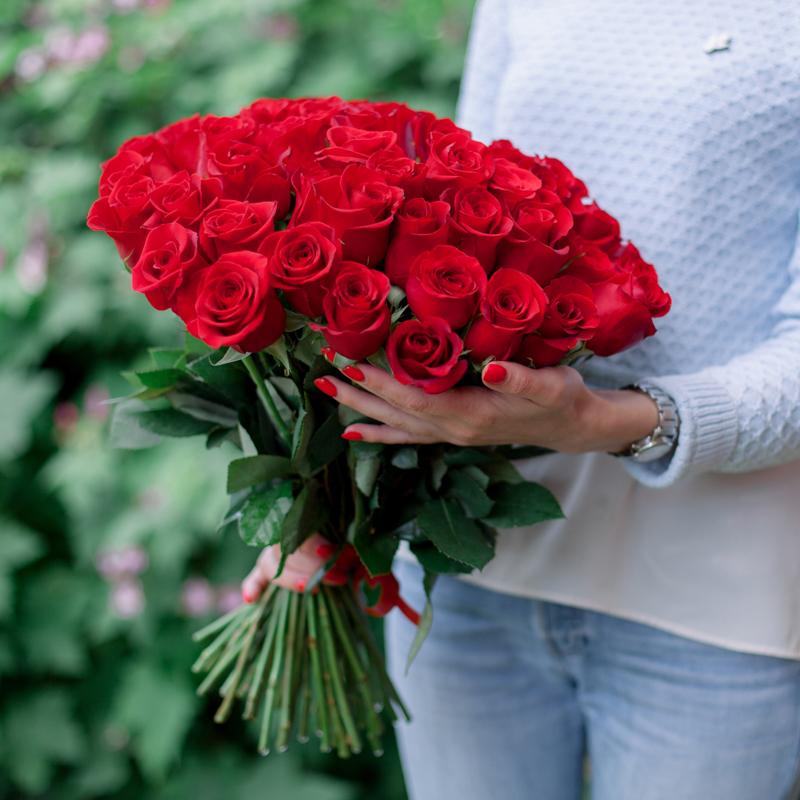 """Букет """"51 красная роза"""" с доставкой"""