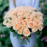 Букет из 51 кремовой розы (Россия)