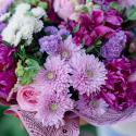 Букет с пионами, хризантемой и розами купить