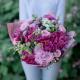 Букет с пионами, хризантемой и розами