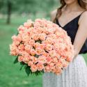 Букет из 101 розы Мисс Пигги