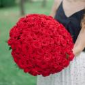 Букет из 101 красной розы (Россия) купить