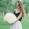Букет из 101 белой розы (Россия)