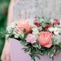 Конвертик с хризантемами, розой и орхидеей купить