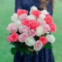 Букет из 25 роз нежный микс (Эквадор) с доставкой