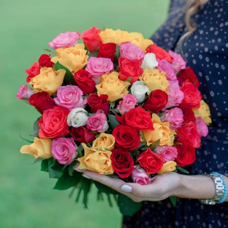 51 разноцветная роза (Кения)
