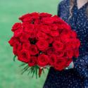 Букет из 51 красной розы (Россия)