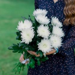 Букет из 9 одноголовых хризантем