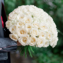 Букет из 31 белой розы (Россия)