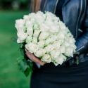 Букет из 51 белой розы 40 см (Кения)