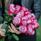 Букет из 25 роз Deep Purple (Эквадор)
