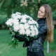 Букет из 25 одноголовых хризантем
