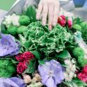 Букет с гортензией, орхидеей и хризантемой заказать