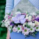 Конвертик с хризантемами и орхидеей купить