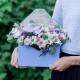 Конвертик с хризантемами и орхидеей