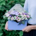 Конвертик с хризантемами и орхидеей заказать