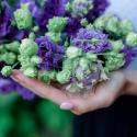 Букет из 9 фиолетовых лизиантусов купить