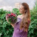 Букет с брассикой, кустовой розой и альстромерией заказать