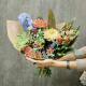 Букет с хризантемами, альстромериями и антирринумом
