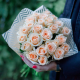 Букет из 25 кремовых роз (Россия)