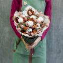 Букет из сухоцветов с хлопком с доставкой