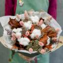 Букет из сухоцветов с хлопком купить