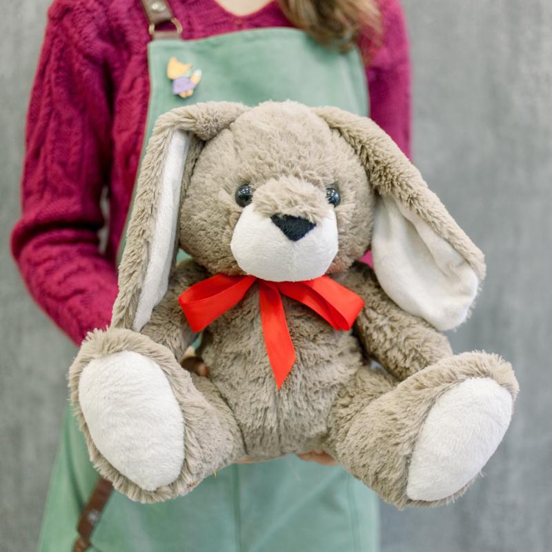 Мягкая игрушка Зайчик с красной ленточкой с доставкой