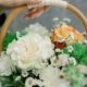 Корзинка с розами и гвоздиками