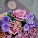Букет с гвоздиками, хризантемой и розами купить