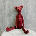 Мягкая игрушка Лис бордовый