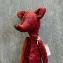 Мягкая игрушка Лис бордовый купить