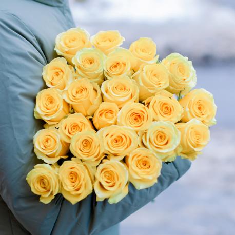 Букет из 25 жёлтых роз (Эквадор)