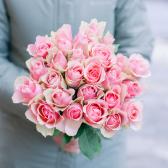 Букет из 25 розовых роз 40 см (Кения) купить