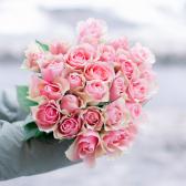 Букет из 25 розовых роз 40 см (Кения) заказать