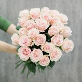Букет из 25 роз Pink Mondiale (Эквадор)