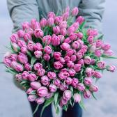 """Букет """"101 розовый тюльпан"""" заказать"""