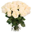 Букет из 51 белой розы 60см (Эквадор)