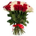 """Букет """"51 красная и белая роза"""" заказать"""
