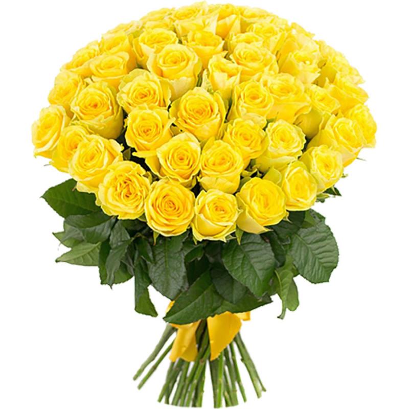 """Букет """"51 желтая роза"""" (Эквадор) с доставкой"""