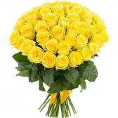 Букет из 51 желтой розы 60см (Эквадор)