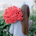 51 коралловая роза заказать