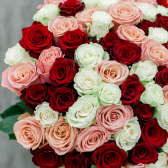 Букет из 101 розы микс (Эквадор) купить