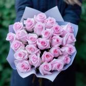 Букет из 25 розовых роз Engagement (Эквадор)