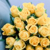 25 желтых Кенийских роз купить