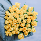 51 желтая Кенийская роза с доставкой
