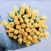 51 желтая Кенийская роза заказать