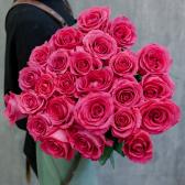 Букет из 25 малиновых роз Pink Floyd 70см (Эквадор) купить